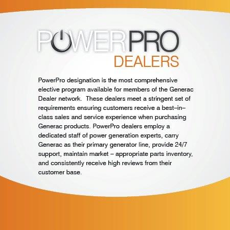 Generac Power Pro Dealer